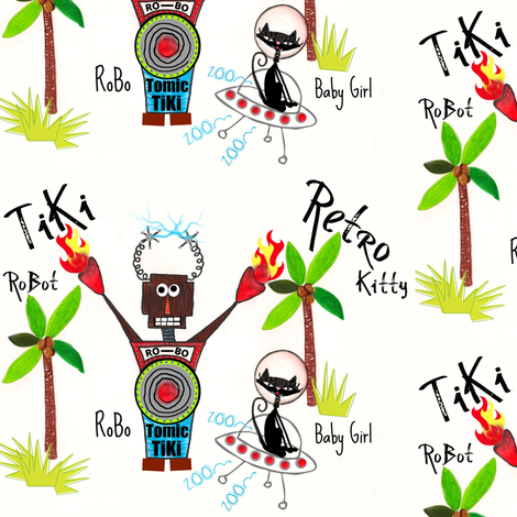 RoBoTomic TiKi /  Bright fabric by paragonstudios on Spoonflower - custom fabric