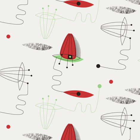 Amp tomato red fabric by spellstone on Spoonflower - custom fabric
