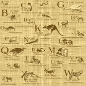 Vintage Alphabet Sepia