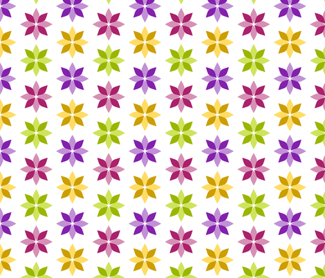 Flowers - Four Colors fabric by siya on Spoonflower - custom fabric