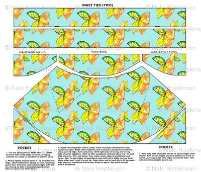 Citronne, a cut-and-sew apron pattern