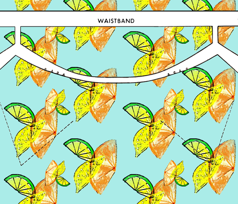 Citronne, a cut-and-sew apron pattern fabric by nalo_hopkinson on Spoonflower - custom fabric
