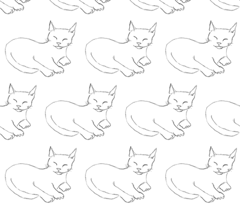 Cozy Kitten fabric by kdl on Spoonflower - custom fabric
