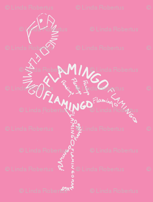 Flamingo Calligram