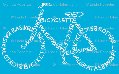 Bicycle Calligram
