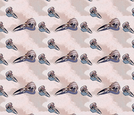 Crow Skulls  fabric by helenklebesadel on Spoonflower - custom fabric