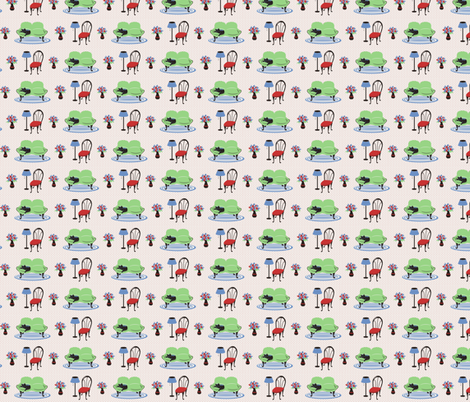 50's Livingroom fabric by annabhall on Spoonflower - custom fabric