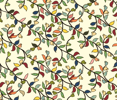 Painted Vine fabric by juliamonroe on Spoonflower - custom fabric