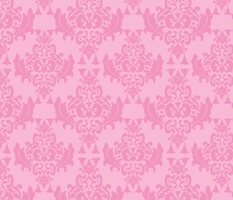 Delicious Damask in Light Carnation Pink fabric by mayabella on Spoonflower - custom fabric