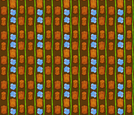 Tiki 2 fabric by jadegordon on Spoonflower - custom fabric