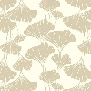 Ivory ginkgo leaves