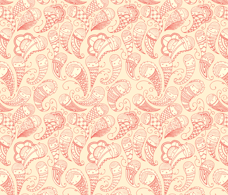 Ghostly Paisley in Bloodlust fabric by beeskneesindustries on Spoonflower - custom fabric