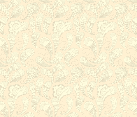 Ghostly Paisley in Dust to Dust fabric by beeskneesindustries on Spoonflower - custom fabric