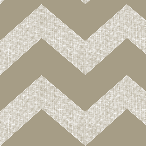 Chevron burlap / mushroom  fabric by paragonstudios on Spoonflower - custom fabric