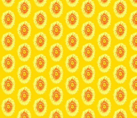 Yellow Flower fabric by siya on Spoonflower - custom fabric