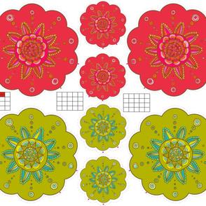 coussin fleur G