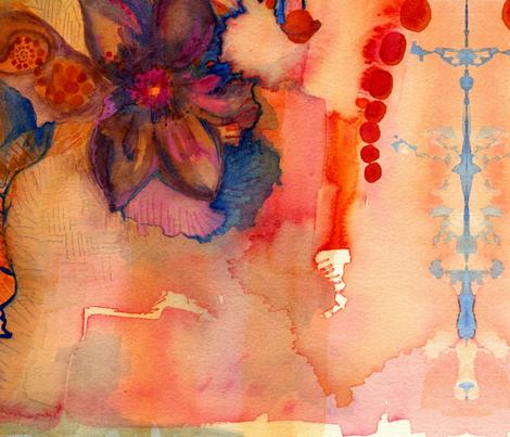 land and sea fabric by nancychenoweth on Spoonflower - custom fabric