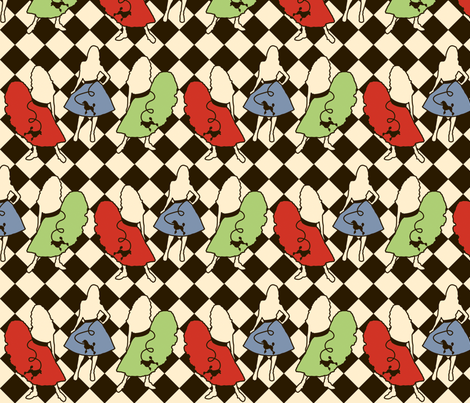 PoodleSkirtPassion fabric by tammikins on Spoonflower - custom fabric