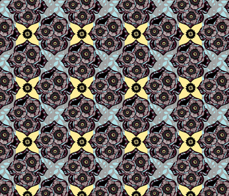 evening_bloom-ed fabric by miette on Spoonflower - custom fabric