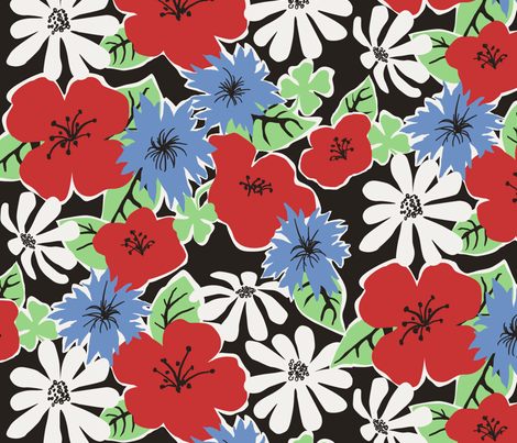 Summer Floral fabric by minimiel on Spoonflower - custom fabric