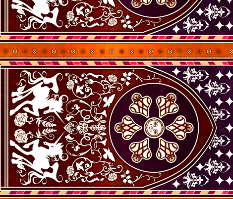 Medieval fabric by jadegordon on Spoonflower - custom fabric