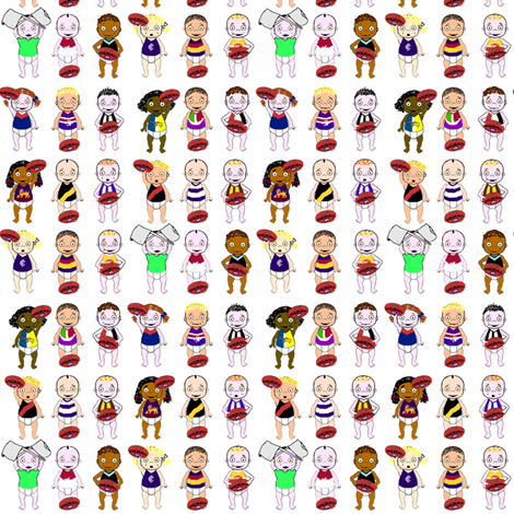 AFL Babies fabric by upcyclepatch on Spoonflower - custom fabric