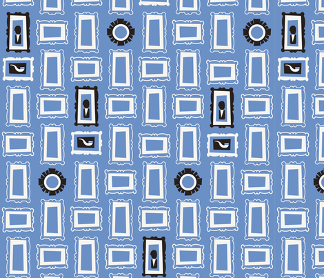 Blue Frames fabric by acbeilke on Spoonflower - custom fabric