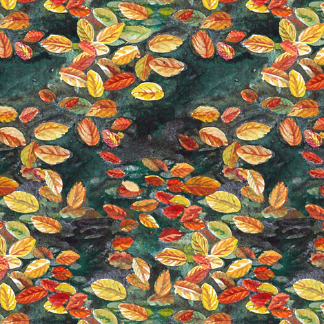 Leaves on Water fabric by helenklebesadel on Spoonflower - custom fabric