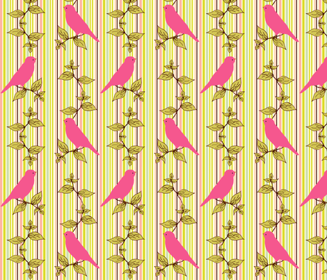 MorningSong_Stripe_in_Pink fabric by cksstudio80 on Spoonflower - custom fabric