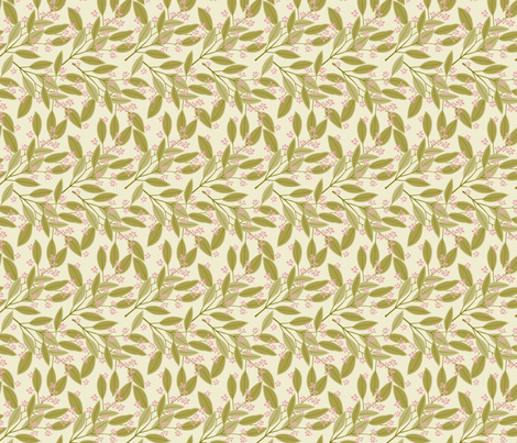 eucalyptus tan fabric by cindy_lindgren on Spoonflower - custom fabric