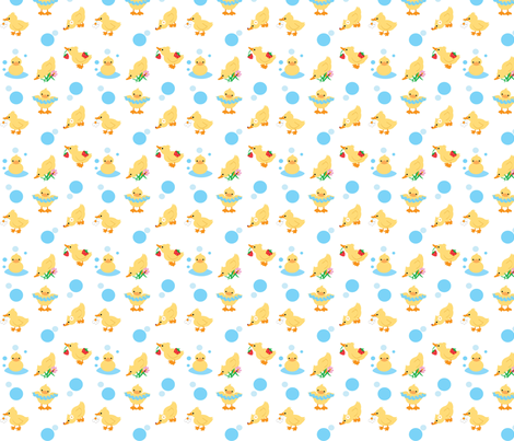 Duckies fabric by kiwicuties on Spoonflower - custom fabric