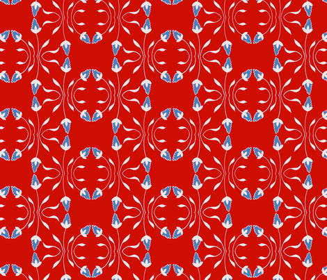 Simple Flower fabric by jadegordon on Spoonflower - custom fabric