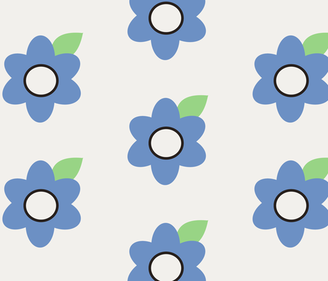floral fabric by stickelberry on Spoonflower - custom fabric