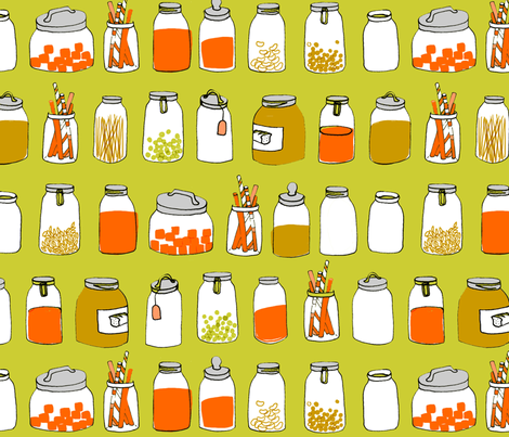 in my pantry...... fabric by mummysam on Spoonflower - custom fabric
