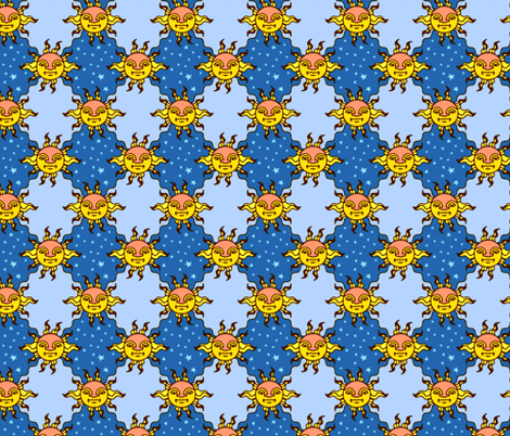 Old Sun fabric by jadegordon on Spoonflower - custom fabric