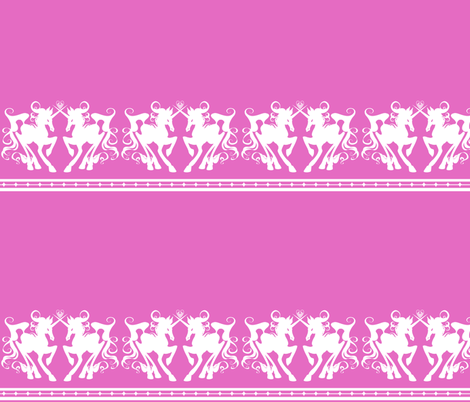 Unicorn Border 2 fabric by jadegordon on Spoonflower - custom fabric
