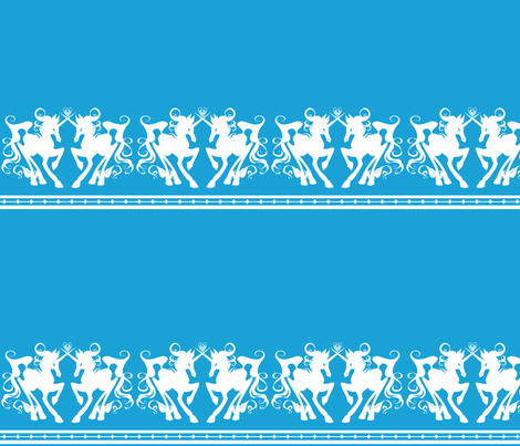 Unicorn Border 1 B fabric by jadegordon on Spoonflower - custom fabric