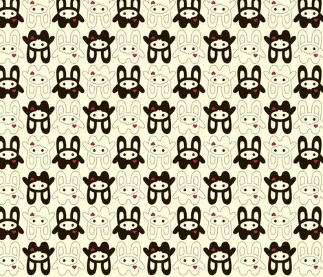 Bunny Squee Fabric - Large fabric by voodoorabbit on Spoonflower - custom fabric