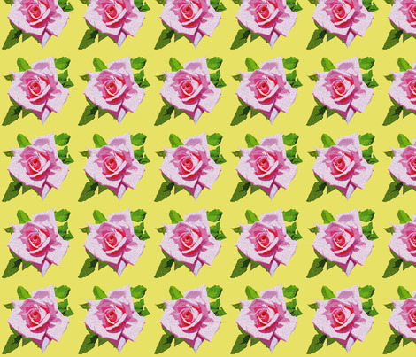 Vintage Rose Yellow fabric by bunni on Spoonflower - custom fabric