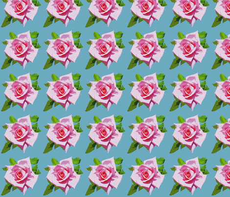 Vintage Rose Blue fabric by bunni on Spoonflower - custom fabric