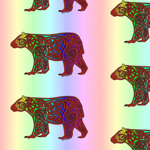 rainbow celtic bear 2