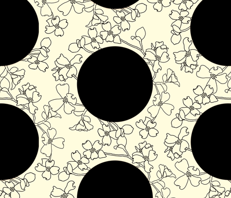 Large Dots & Dogwood fabric by juliamonroe on Spoonflower - custom fabric