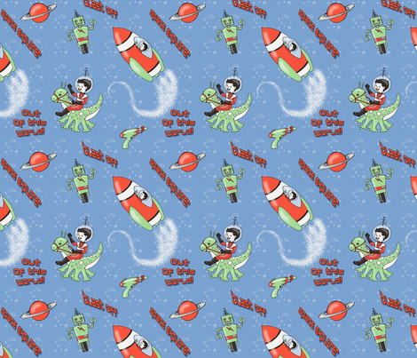 Space Explorer fabric by mytinystar on Spoonflower - custom fabric