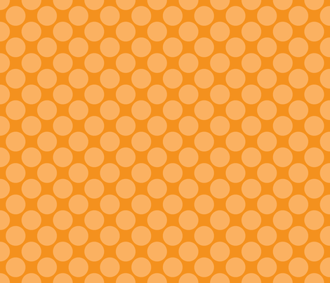 Orange Circus Polk fabric by mayabella on Spoonflower - custom fabric