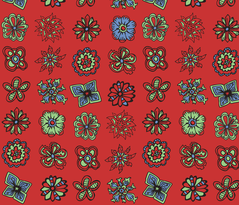 50s Flowers fabric by antonybriggs on Spoonflower - custom fabric