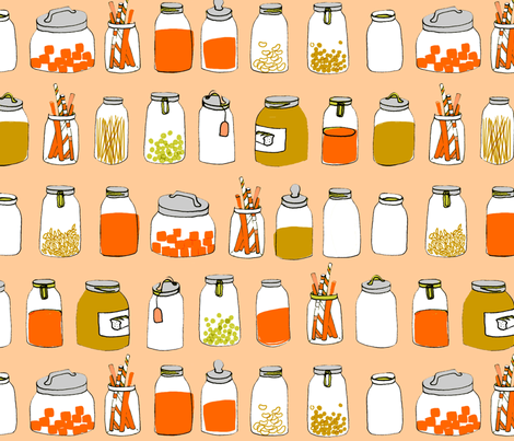 jars fabric by mummysam on Spoonflower - custom fabric