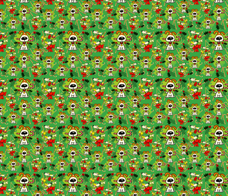 5th_TIFF_with_holly_final_candy_cane_fabric fabric by olie's_closet on Spoonflower - custom fabric