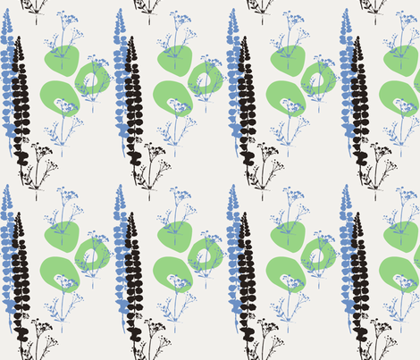 Little weeds fabric by evamarion on Spoonflower - custom fabric
