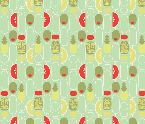 Tiki Weekend fabric by acbeilke on Spoonflower - custom fabric