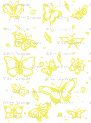 butterflies yellow